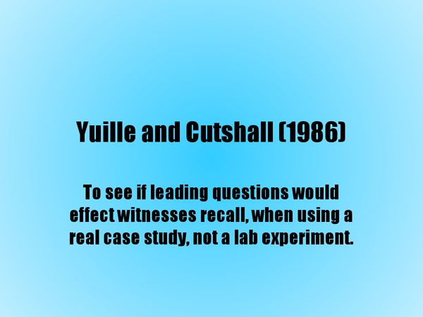 Preview of Yuille and Cutshall 1986