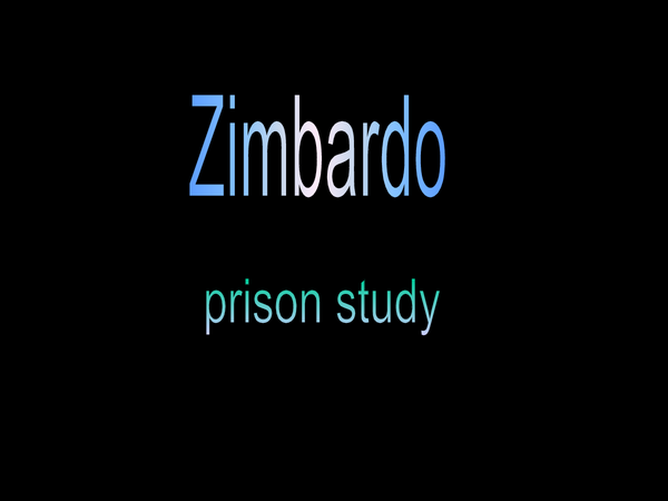 Preview of Zimbardo prision study