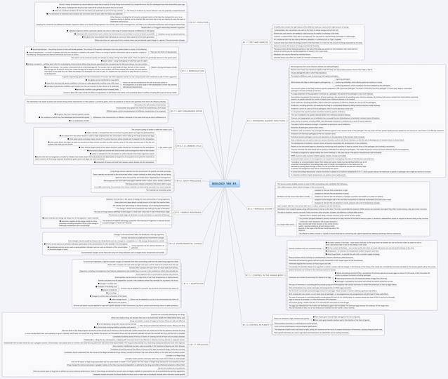 B1: Mindmap for all topics